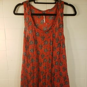 Free People Floral High Low Shell Size M